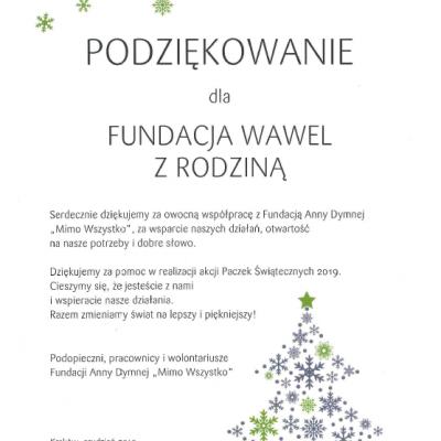 """Paczki Świąteczne 2019 – Fundacja Anny Dymnej """"Mimo Wszystko"""""""